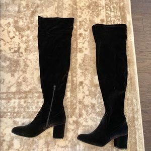 I.N.C. Over the Knee velvet boots